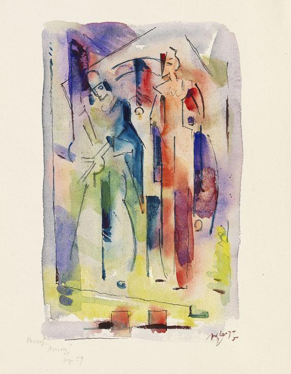 Albert Gleizes - Komposition mit zwei Figuren (Clowns)