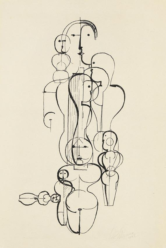 Oskar Schlemmer - Konzentrische Gruppe (Figurenplan K 1)