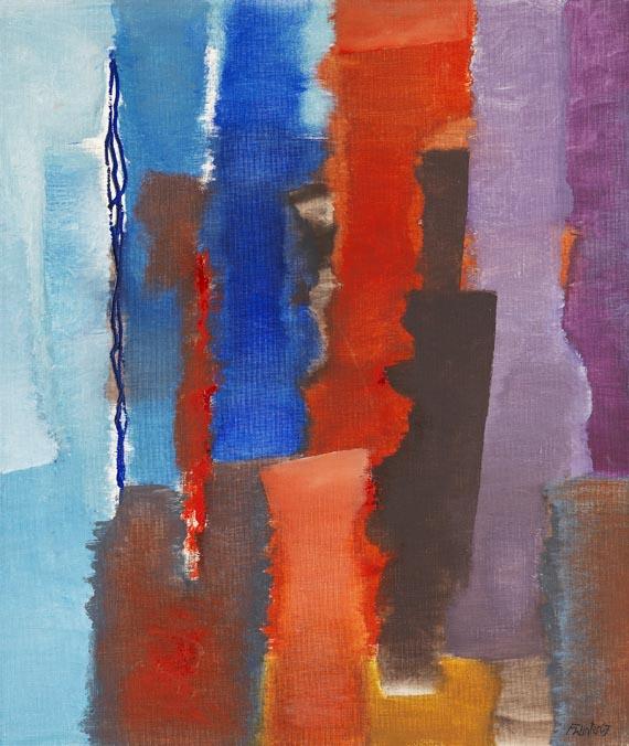 Fritz Winter - Blau-Rot-Vertikal