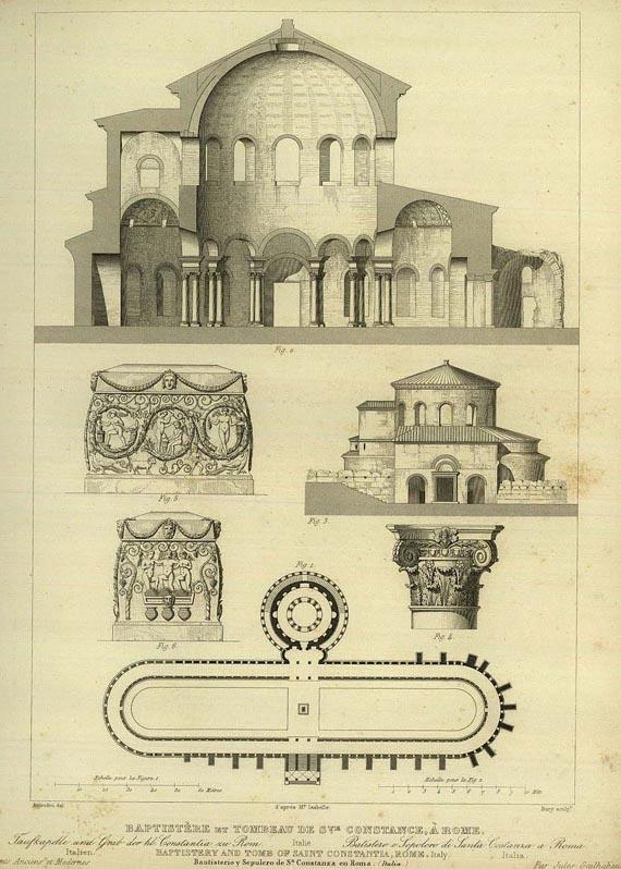 Jules Gailhabaud - Denkmäler der Baukunst, 4 Bde. 1852