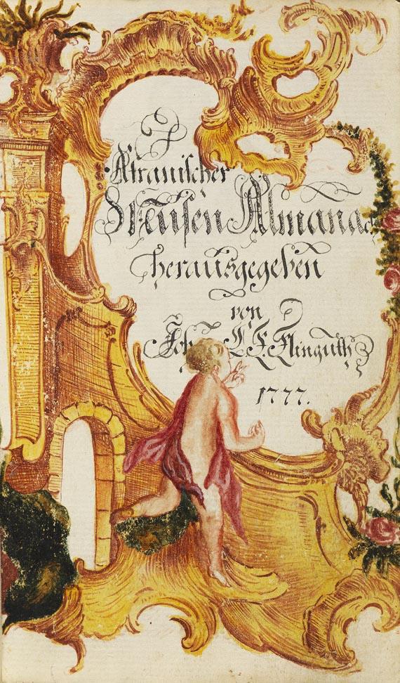 Johann Chr. Karl von Klinguth - Afranischer Musen Almanach. Manuskript. 1777