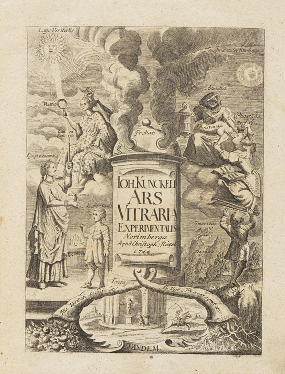 Johannes Kunckel (von Löwenstern) - Ars vitraria. 1743