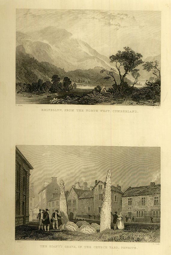 Thomas Rose - Westmorland, Cumberland. 1832. Dabei: Allom, Lake and Mountain Scenery. 1836