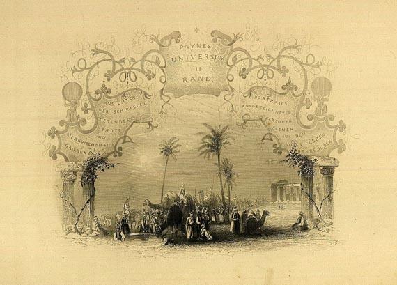 Albert Henry Payne - Rhein-Panorama in: Payne's Universum. 3. Bd. 1844