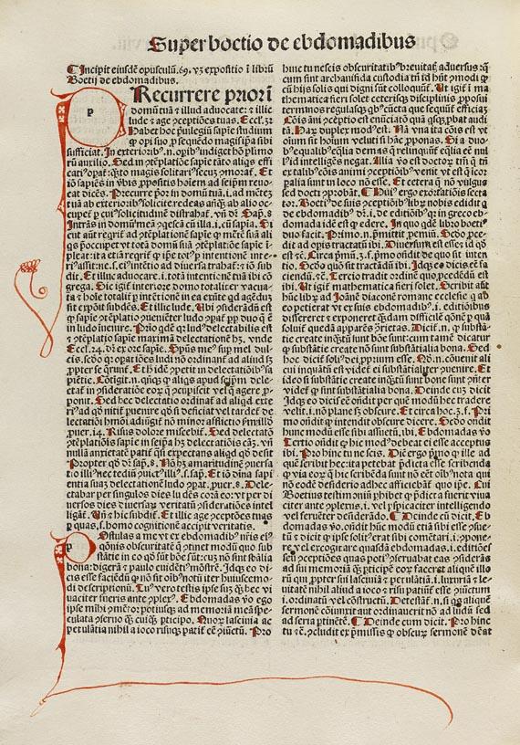 Thomas von Aquin - Opuscula. 1490