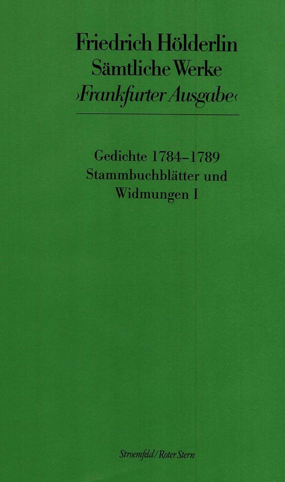 Friedrich Hölderlin - Sämtliche Werke. 20 Bde. inkl. 3 Faksimiles und Heft I-V, IX. 1976-2008
