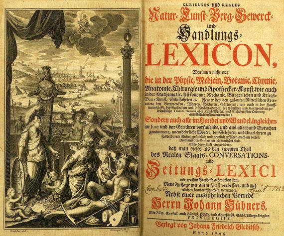 Johann Hübner - Handlungs-Lexikon. 2 Bde. 1739