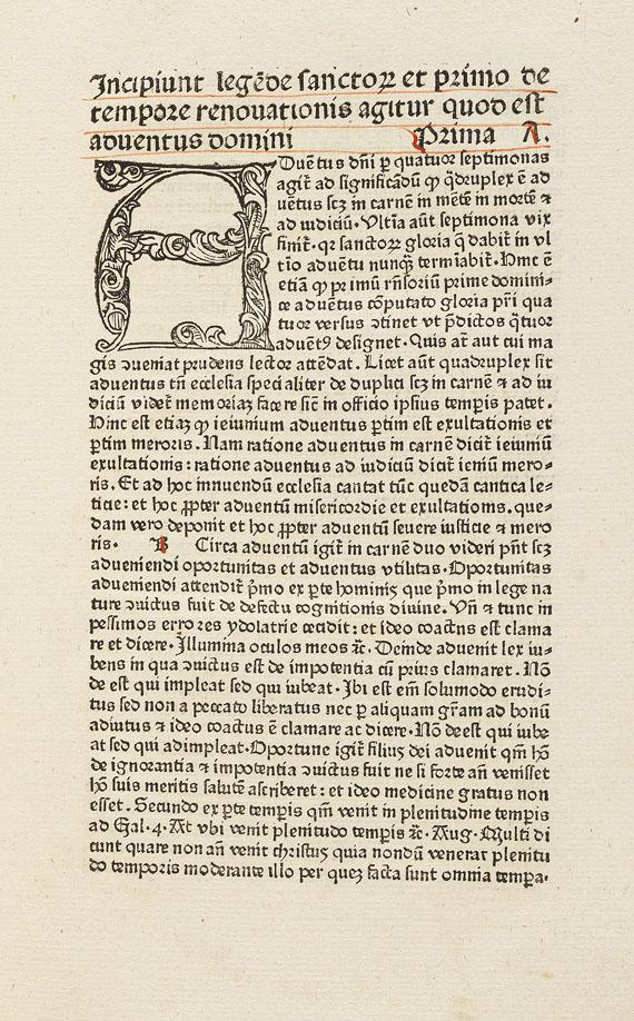 Jacobus de Voragine - Legenda aurea. um 1476   7(19)