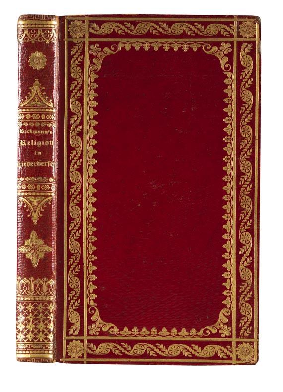 Carl Beckmann - Religion in Liederversen. 1838 - Einband