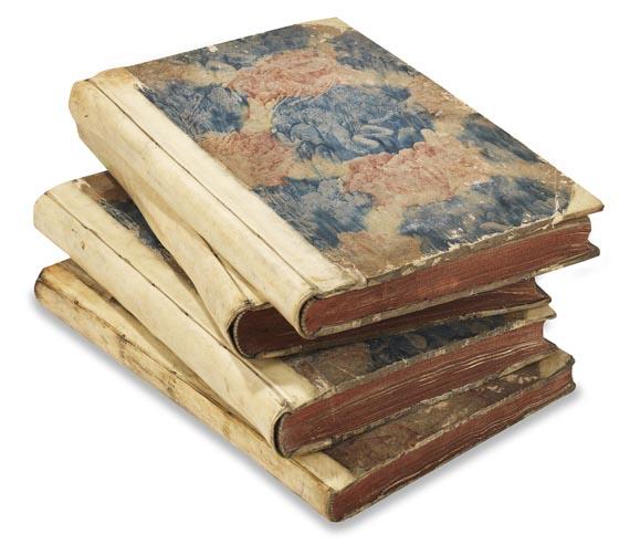 Johann Friedrich Penther - Anleitung zu Bürgerlichen Baukunst, 4 Bde. 1744. - Einband
