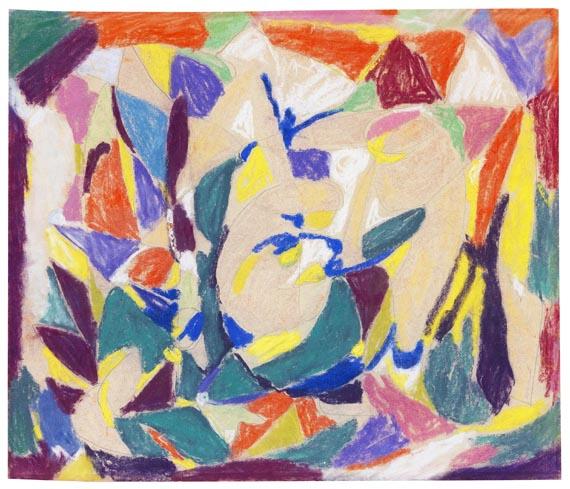 Adolf Hölzel - Abstrakte Komposition (Anbetung)