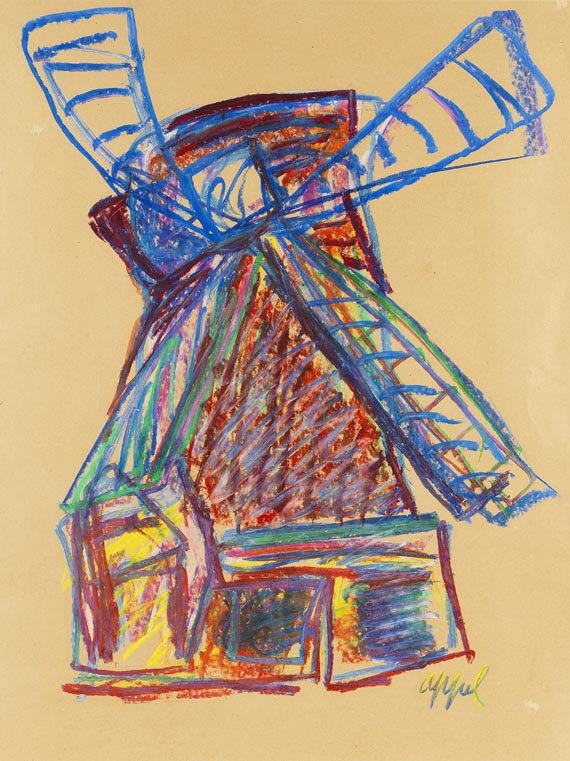Karel Appel - Windmühle