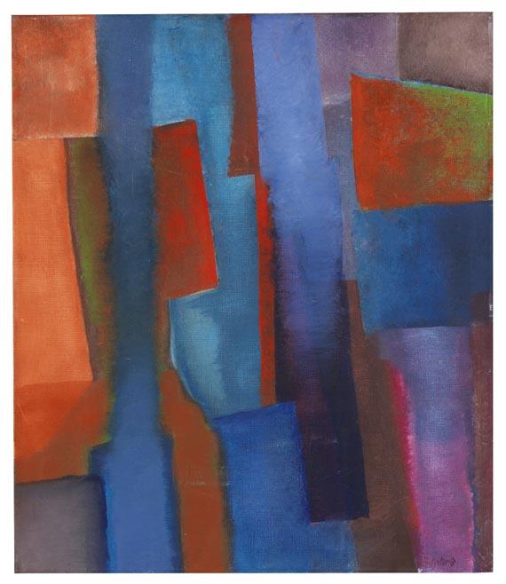 Fritz Winter - Blau zwischen Rot