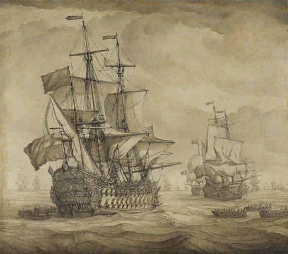 Willem I van de Velde - Englische Kriegsschiffe