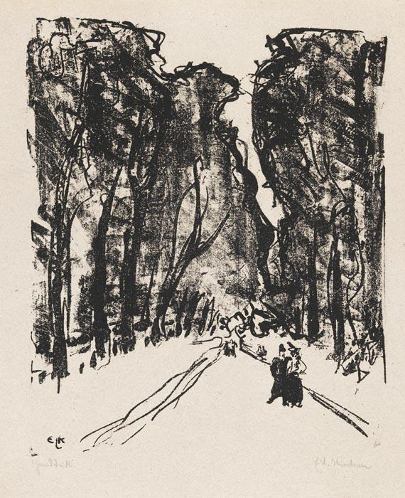 Ernst Ludwig Kirchner - Allee am Abend