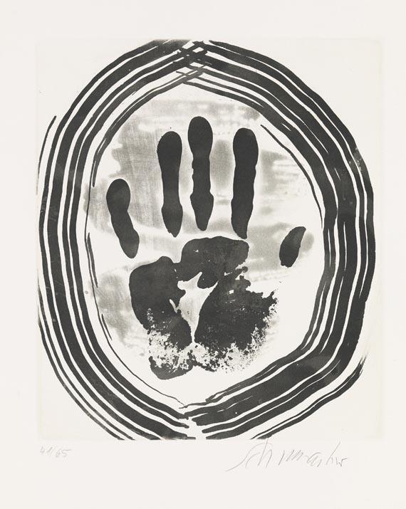 Emil Schumacher - Motiv 8/1967 - Signatur