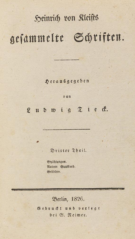 Heinrich von Kleist - Werke. 3 Bde. 1826