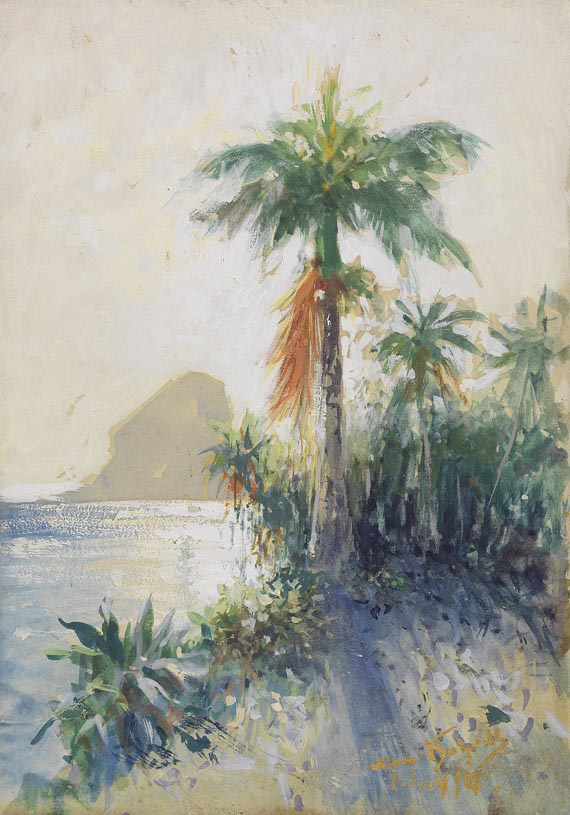 Hans Bohrdt - Rio de Janeiro, Blick auf den Zuckerhut