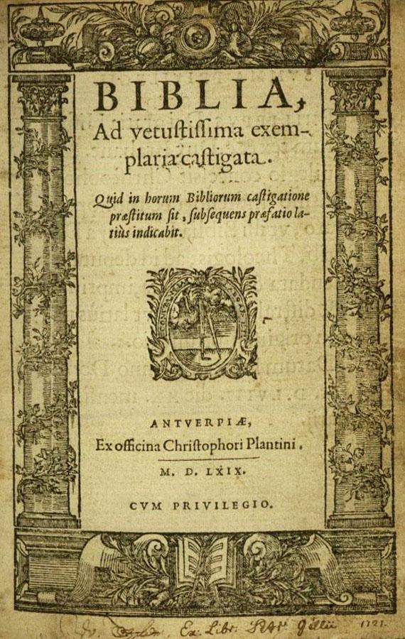 Biblia latina - Antwerpen, Plantin 1569.