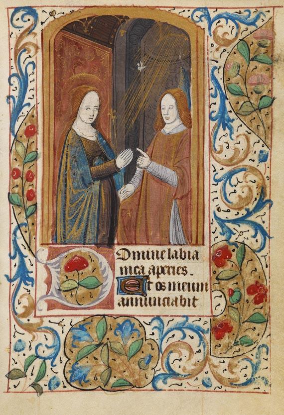 Stundenbuch - Livre d'heures. Auf Pgt. Paris ca. 1470. -
