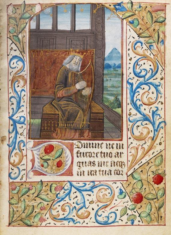 Stundenbuch - Livre d'heures. Auf Pgt. Paris ca. 1470.