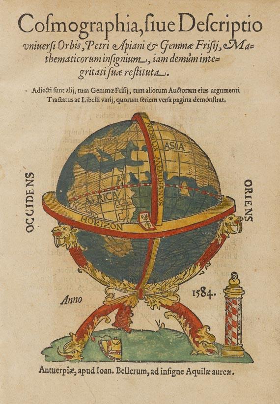 Peter Apian - Cosmographia. Antwerpen 1584.