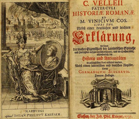 Gaius Velleius Paterculus - Historiae Romanae 1737