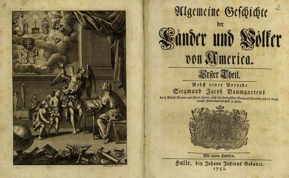 J. F. Schröter - Allgemeine Geschichte der Länder 1752. 2 Bde.
