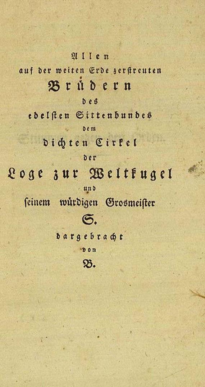 Freimaurer - Blüthen der Maurerei. 1800