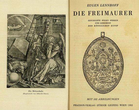 Freimaurer - Konvolut Freimaurer-Literatur d. 20. Jhs. ca. 231 Tle.