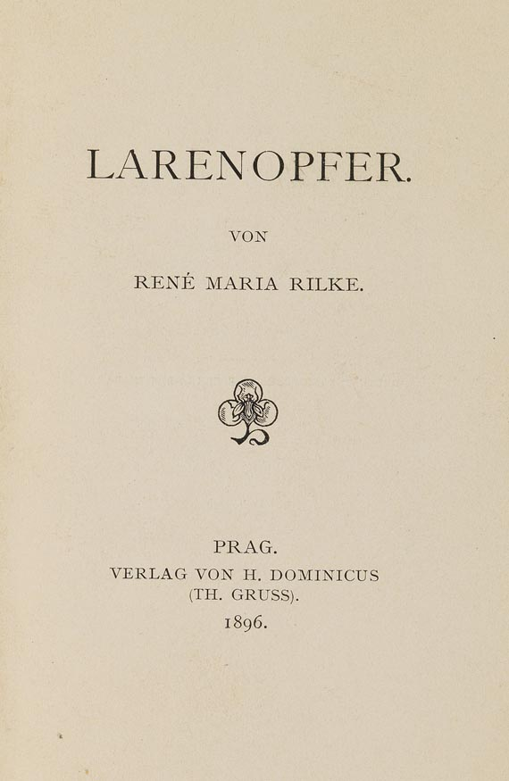 Rainer Maria Rilke - Larenopfer. 1896