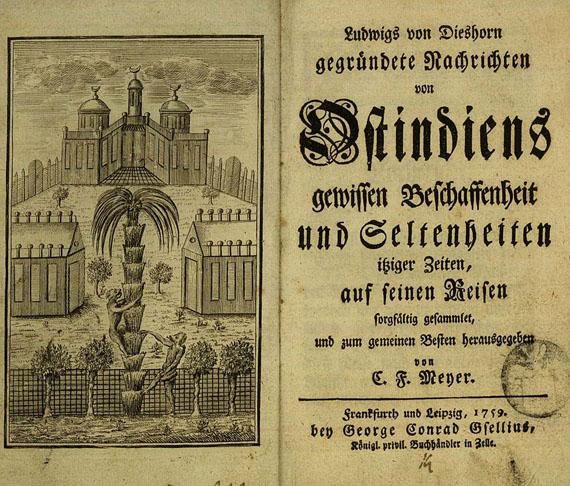 Ludwig von Dieshorn - Ostindiens gewissen Beschaffenheit 1759.