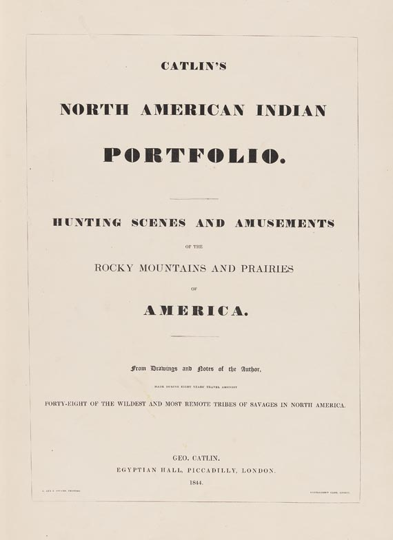 Catlin - North American Indian Portfolio. 1844.
