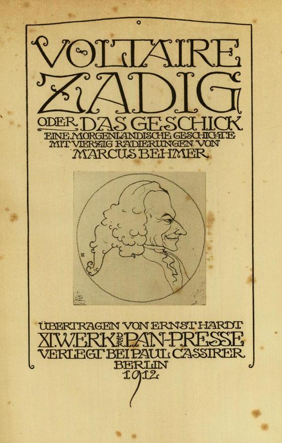 Marcus Behmer - Voltaire, Zadig, 1912.