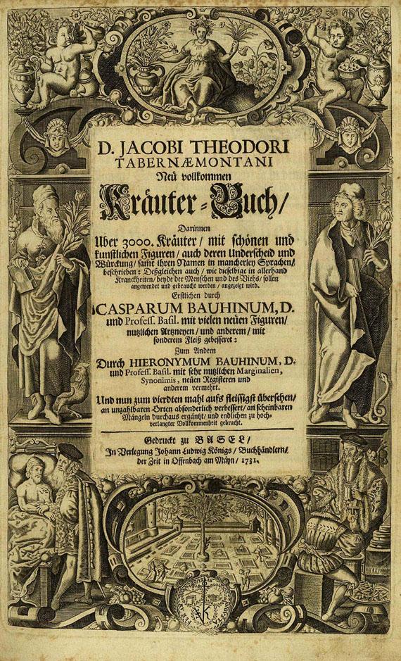 Jacobus Theodorus Tabernaemontanus - Neu vollkommen Kräuterbuch, 1731.