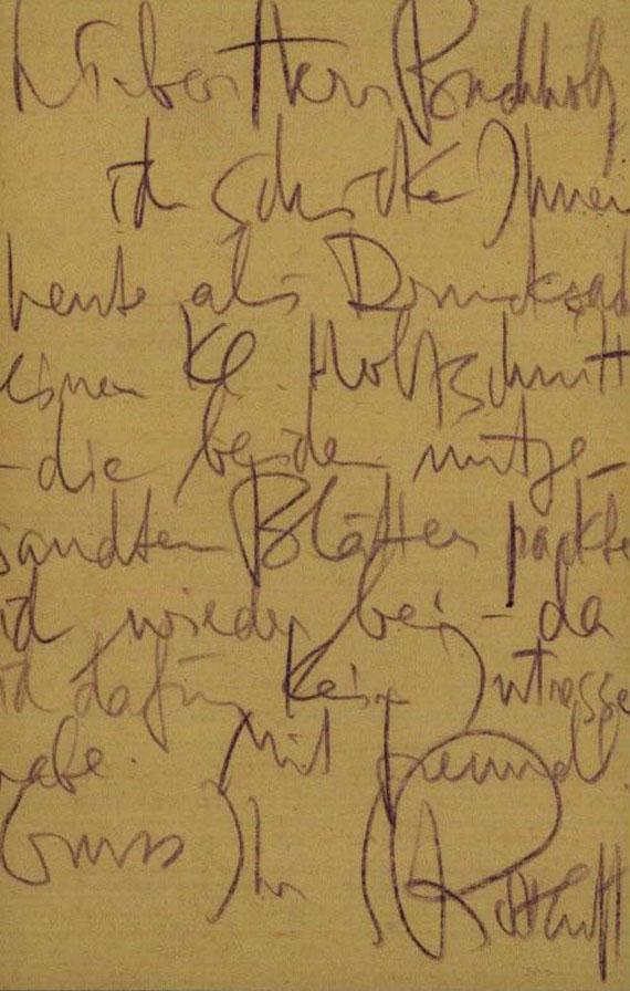 Karl Schmidt-Rottluff - 1 Autograph. 1920.