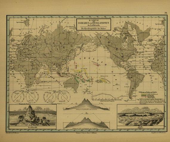 Alexander von Humboldt - Kosmos. 5 Bde. 1845-59 - Dabei: Atlas. 1851