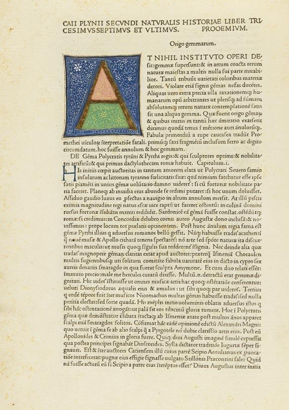 Caecilius Plinius Secundus - Historia naturalis. 1472.
