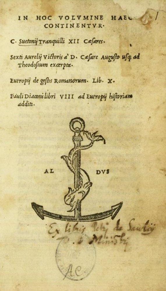 Gaius Suetonius Tranquillus - Sammelband. 1516. (D4)