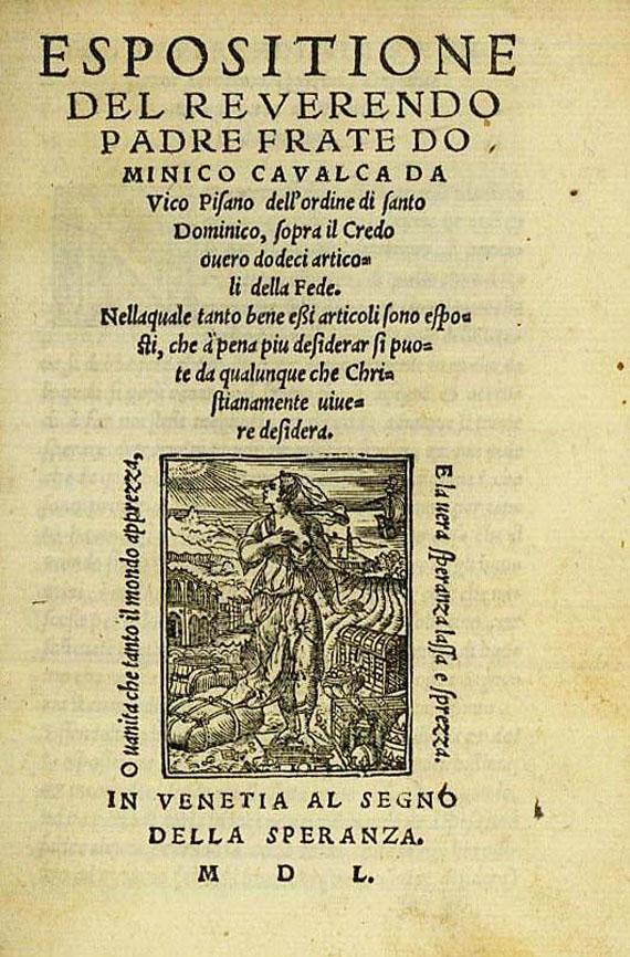 Domenico Cavalca - Espositione del reverendo. 1550.