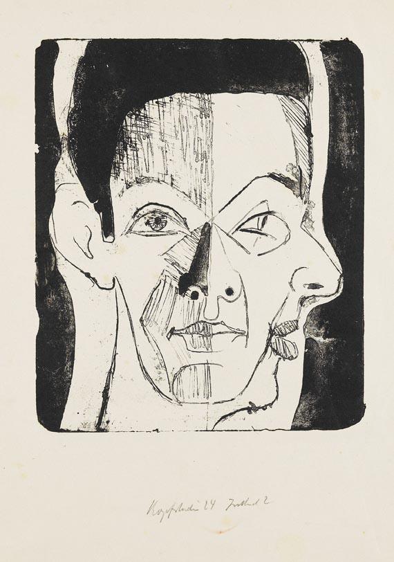 Ernst Ludwig Kirchner - Kopfstudie