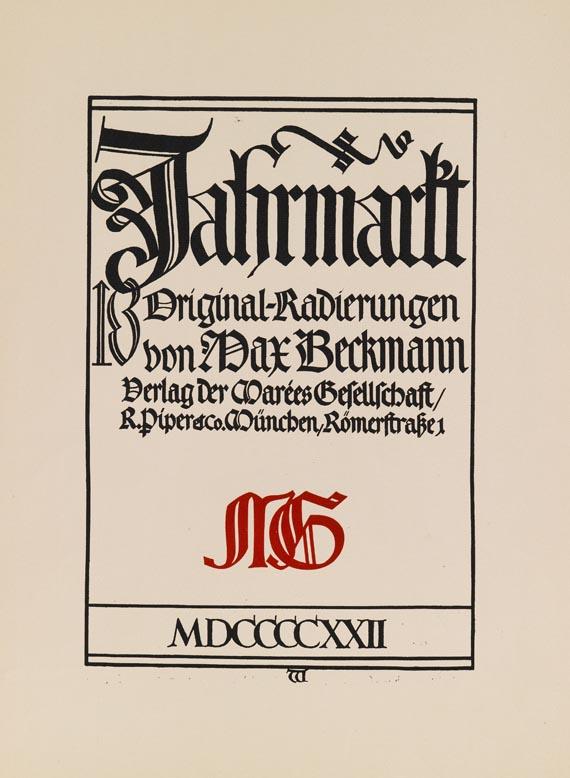 Max Beckmann - Jahrmarkt -