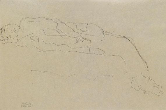 Gustav Klimt - Auf einem Sofa liegende Frau