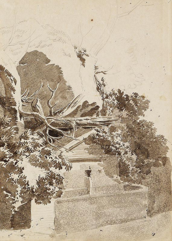 Jean-Antoine Constantin - Brunnen in Baumlandschaft