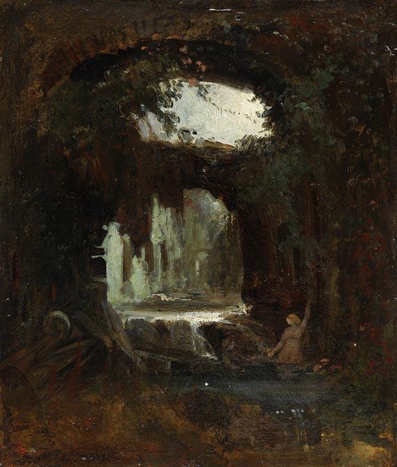 Carl Spitzweg - Grotte mit badenden Nymphen