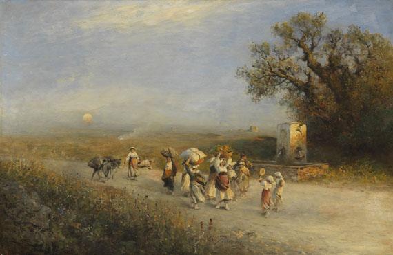 Albert Flamm - Abendstimmung in der Campagna