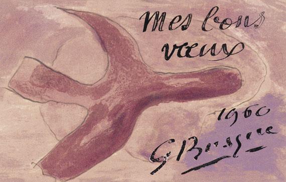Georges Braque - L`oiseau mauve (Neujahrskarte)