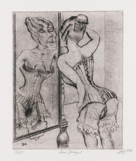 Otto Dix - Am Spiegel
