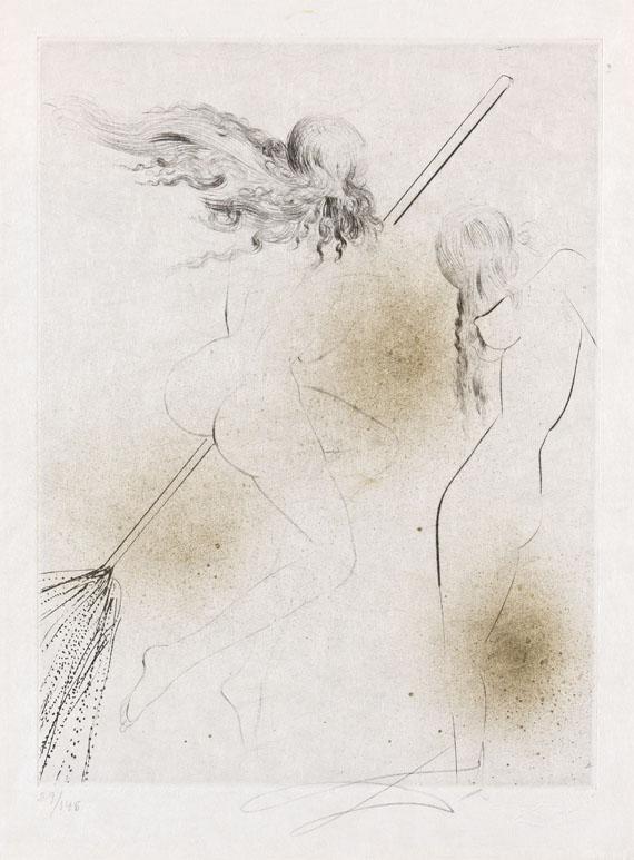 Salvador Dalí - Sorcière au balai (Hexe mit Besen)