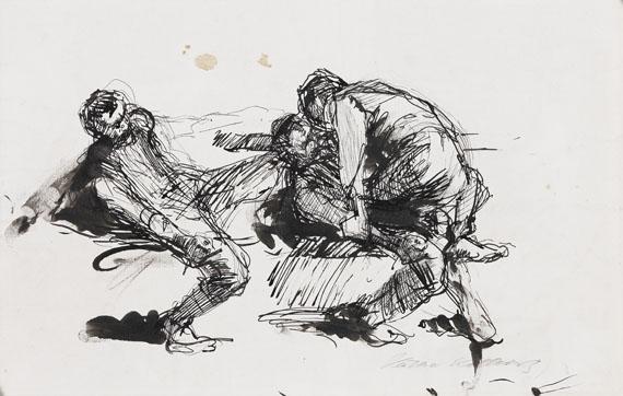 Kollwitz - Zwei miteinander ringende Männer